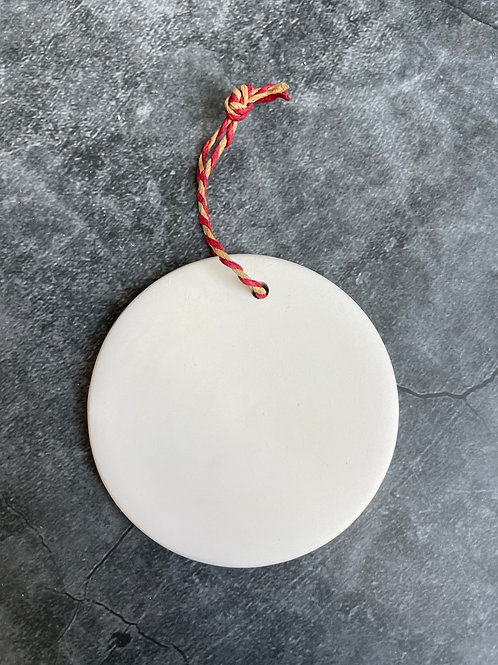 circle flat hanging decoration