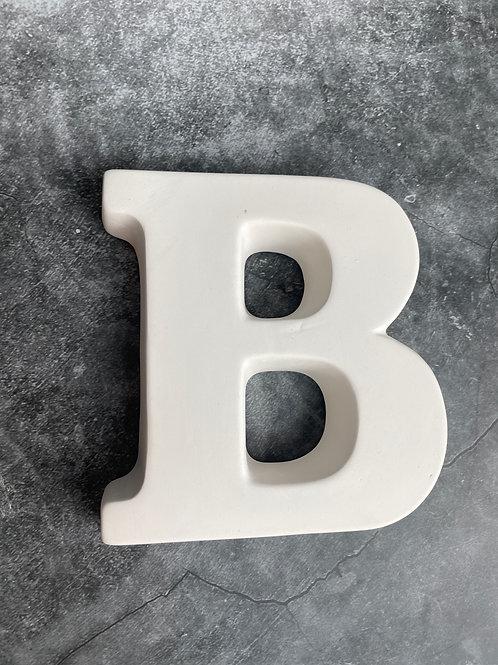B letter plaque