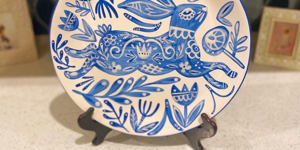 Adult Workshop - Folk Art Rabbit Plate