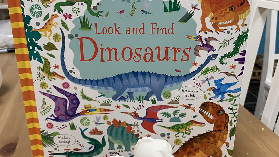 Dinosaur Book and Pottery Take Home Kit