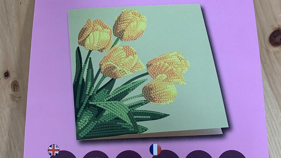 Tulip Crystal Card Kit
