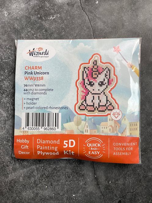 pink unicorn diamond art kit