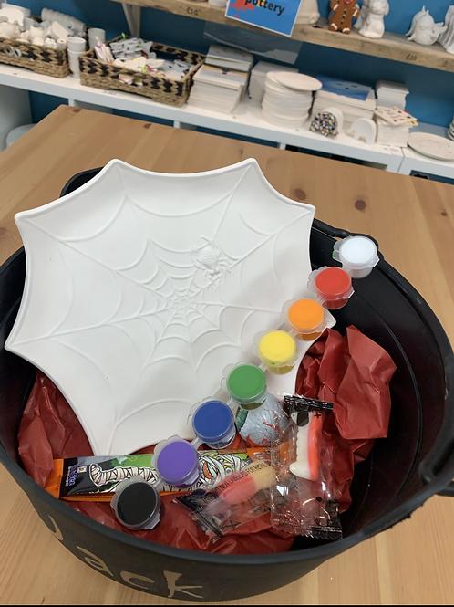 Web Plate Painting Halloween kit