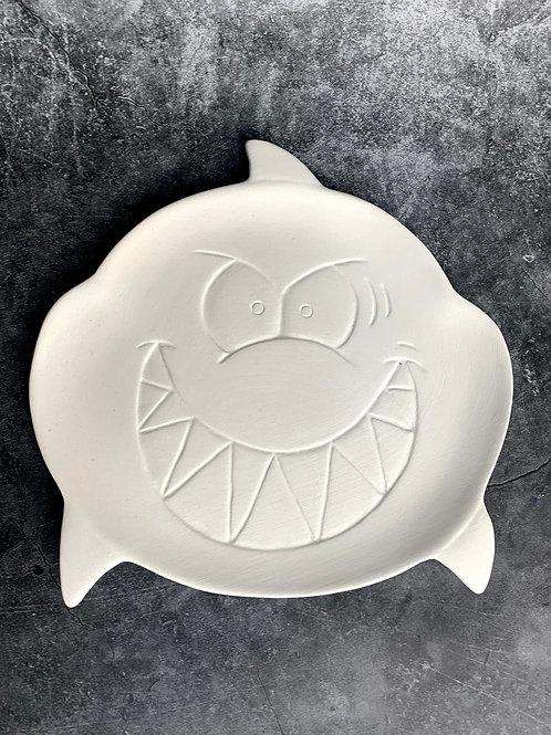 scary shark plate