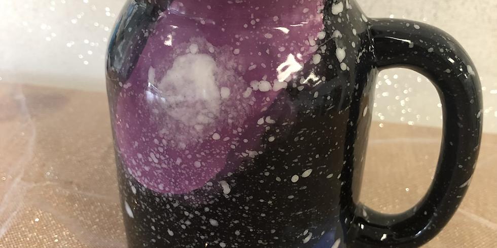 Half Term Zoom Workshop - Galaxy Mason Jar Mug