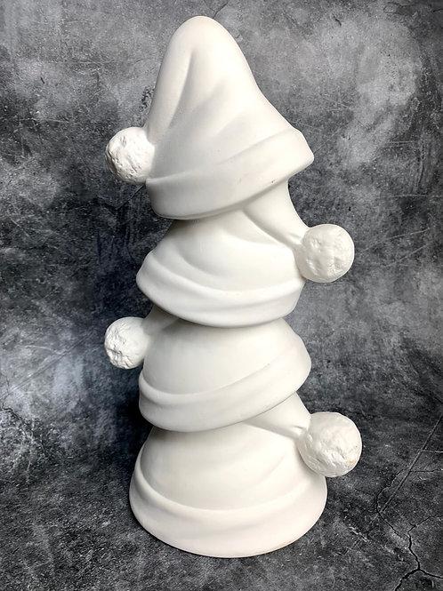 stacking santa hats