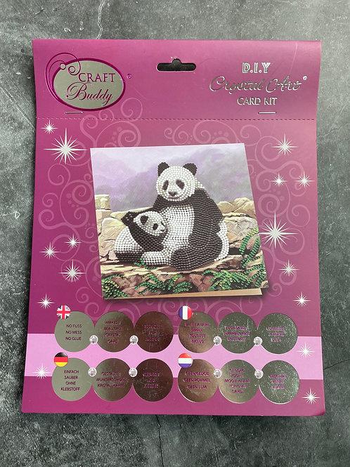 panda crystal art card kit