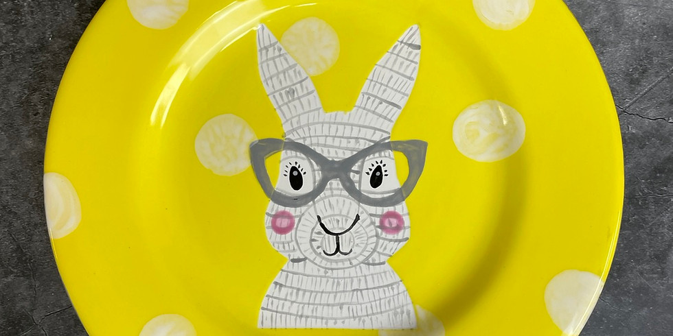 Easter Zoom Workshop - Rabbit Plate