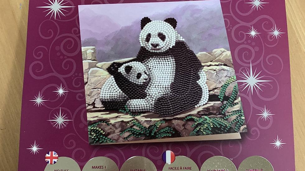 Panda Crystal Card Kit