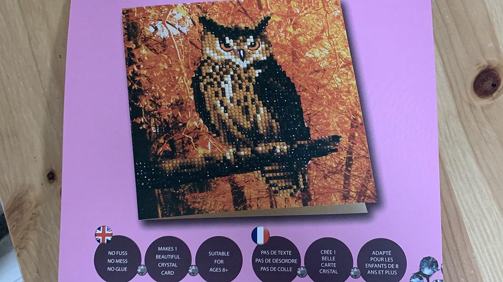 Owl Crystal Card Kit