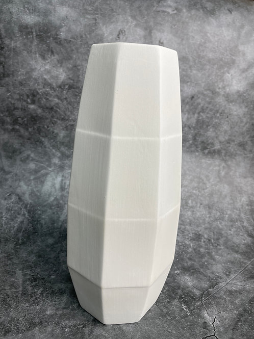large facetted vase