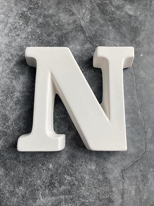 N letter plaque