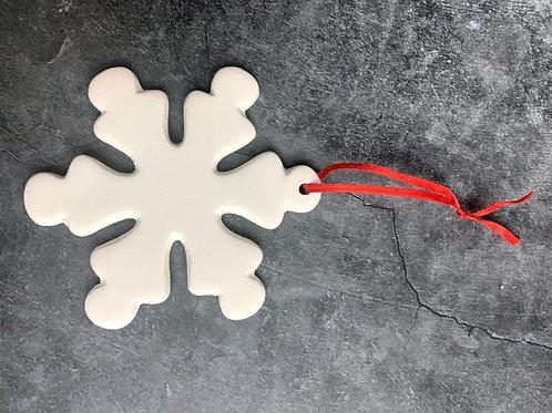 snowflake flat hanging decoration