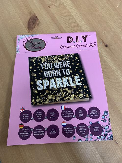Born To Sparkle Crystal Card Kit