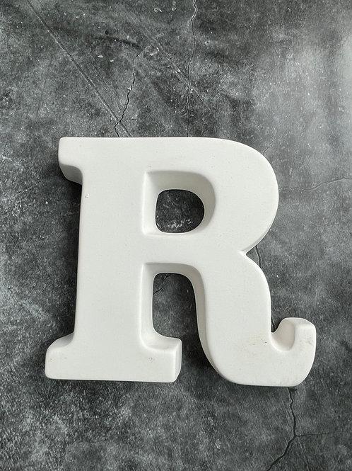 R letter plaque
