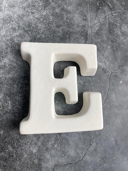 E letter plaque