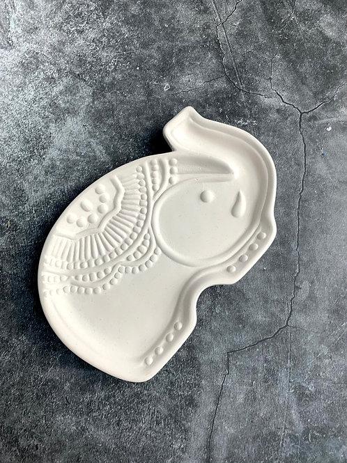 small elephant mandala trinket dish