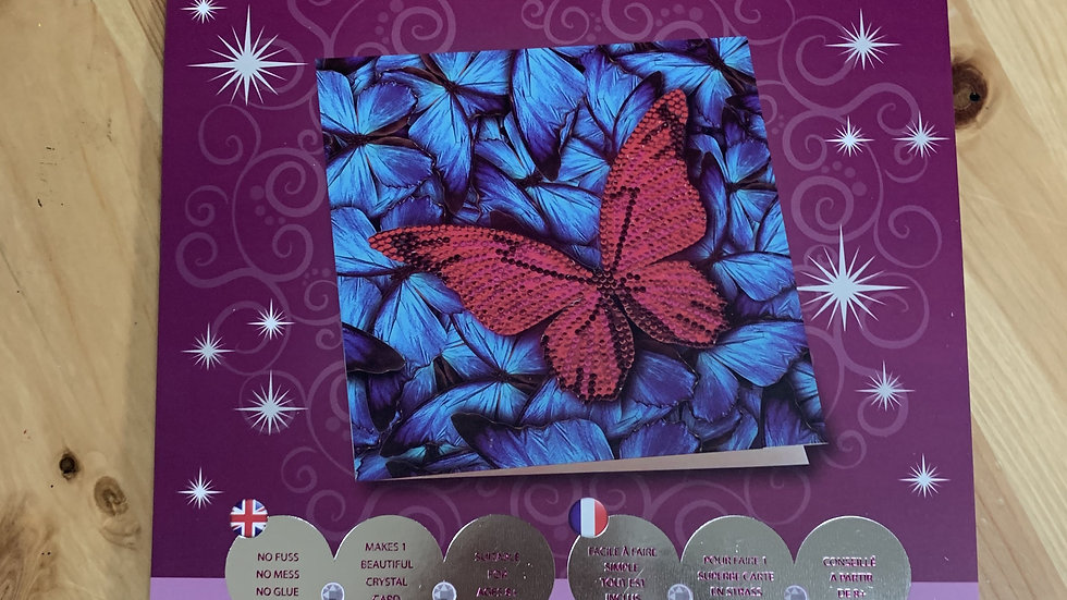 Butterfly Crystal Card Kit