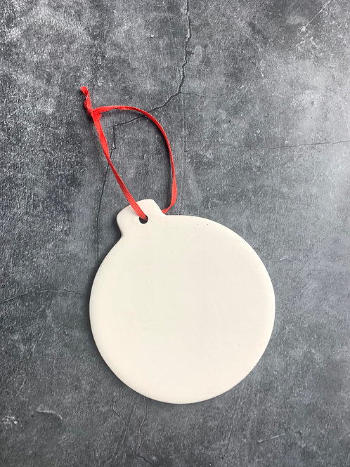 bauble flat hanging decoration