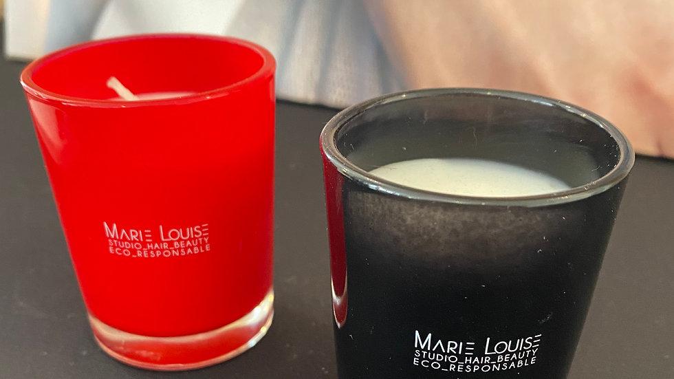 Bougie parfum musc noire ou rouge
