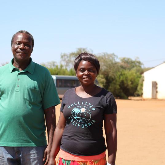Pastor Smoke and a teacher from Maanu Mw