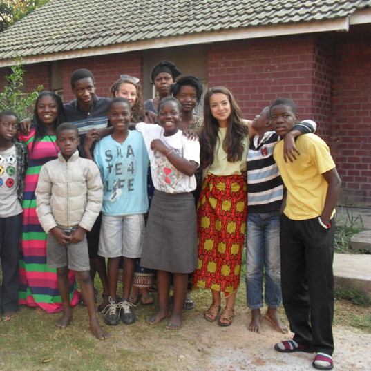 Youngters and Volunteers at Funsani Home