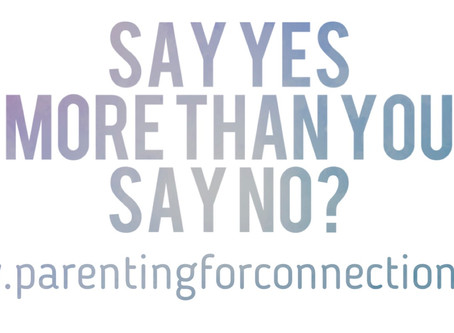 Say YES more than you say NO?
