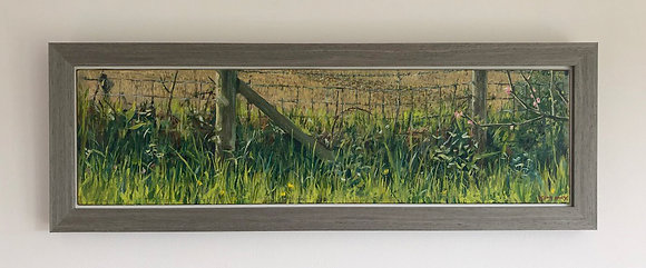 'Spring view at West Acre'  Part 3 | 61cm x 16.5cm Oil on Gesso Board (Framed)