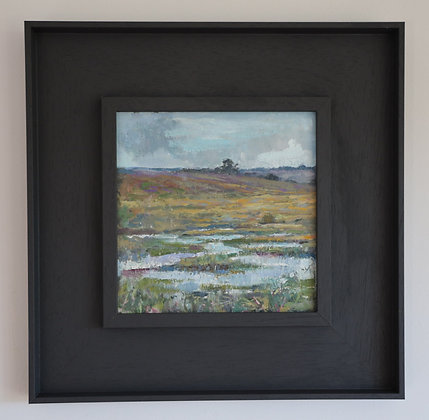 'Studland Marsh'   20cm x 20cm Oil on Gesso Board