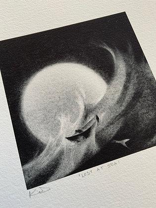 'Lost at Sea' 12 x 12cm