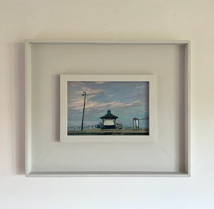 'The Clock Shelter'  Swanage | 18cm x 12cm Oil on Cradled Gesso Board