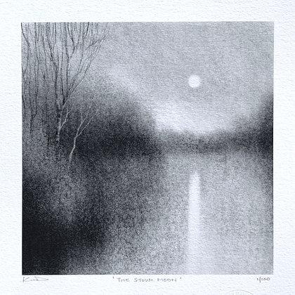 'The Stour Moon' 18 x 18cm