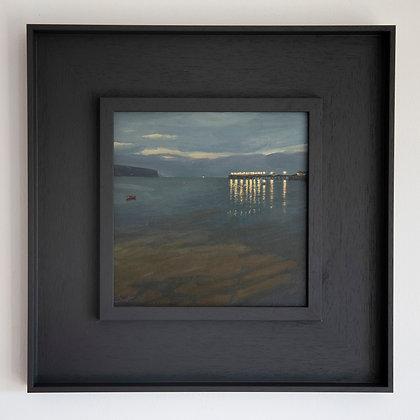 'Swanage  Pier Lights' Swanage | 20cm x 20cm Oil on Gesso Board