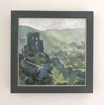 'Corfe morning'  | 20cm x 20cm Oil on Linen Board (Framed)