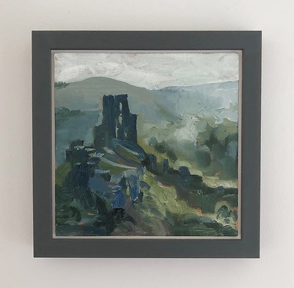 'Corfe morning' Part 2  | 20cm x 20cm Oil on Linen Board (Framed)