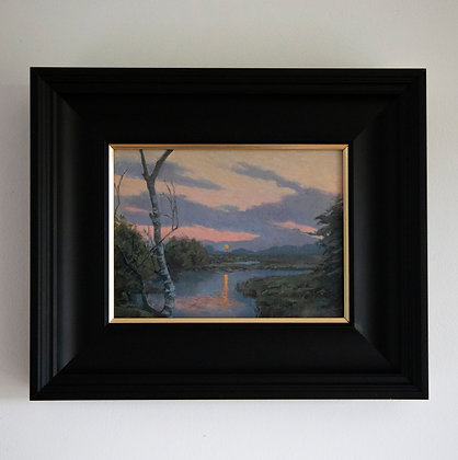 'Studland Sundown'  Landscape | 21cm x 16cm Oil on Gesso Board