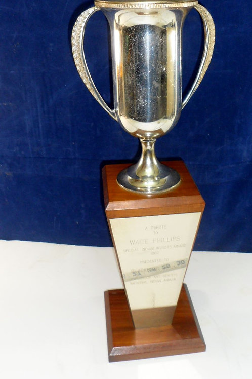 Special Indian Artist Award Trophy presented by Black Bear B
