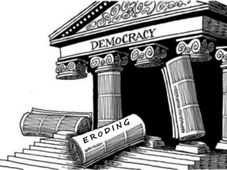 Democracy is bleeding and on thedecline
