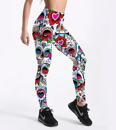 Skull Head Love leggings