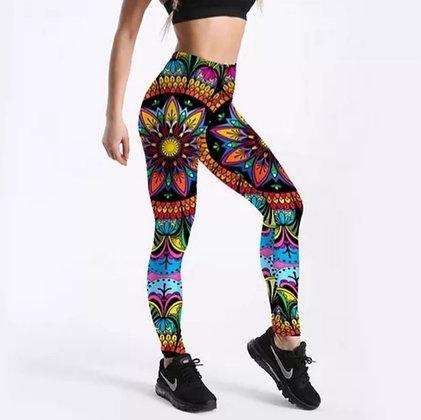 Color Floral Printed Leggings