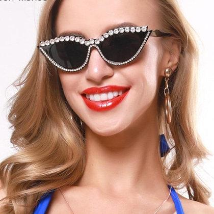Vintage Cat Eye Rhinestones Sunglasses