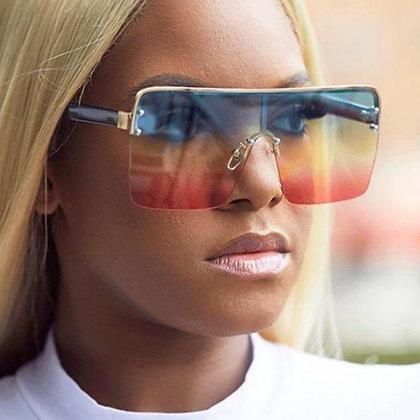 Oversized Square Vintage Gradient Sunglasses