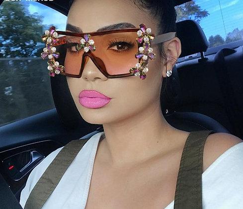 Oversized Colorful Vintage Punk Glasses