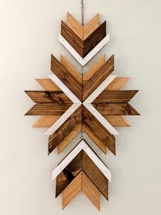 Hanging Wooden Starburst