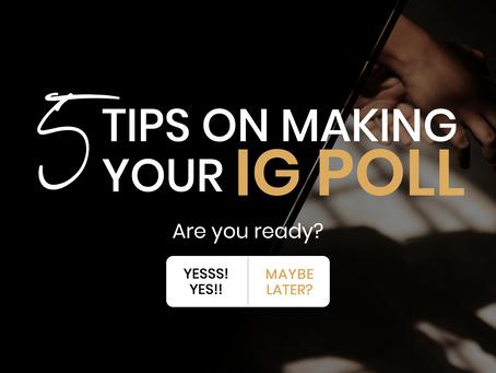 5 Tips on Making Instagram Polls