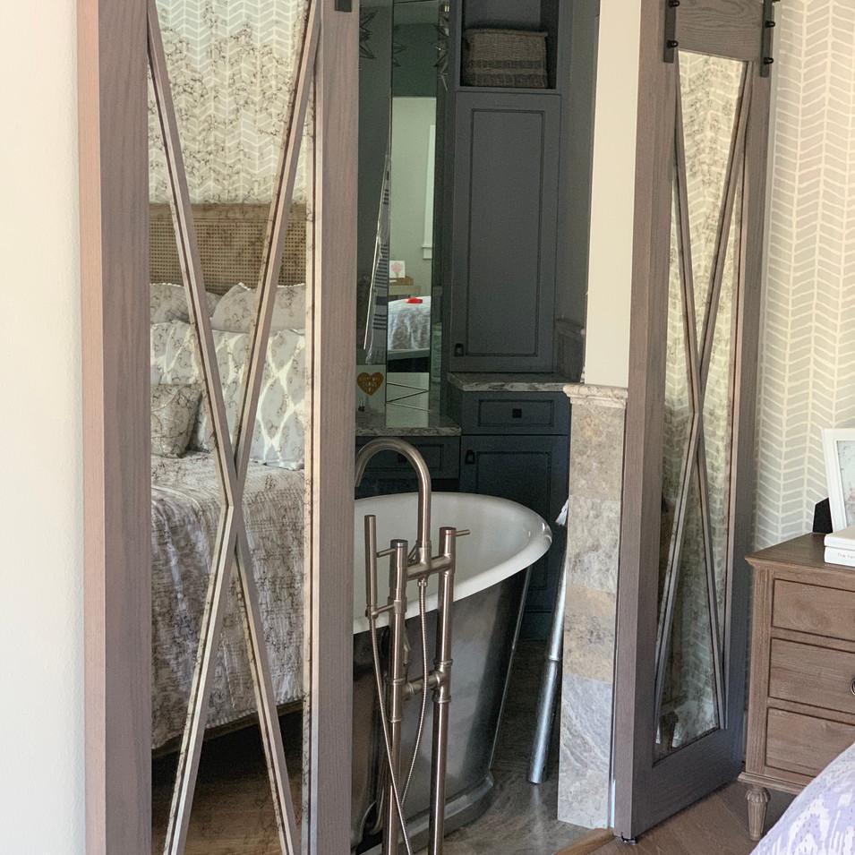 Antique Mirror Barn Doors