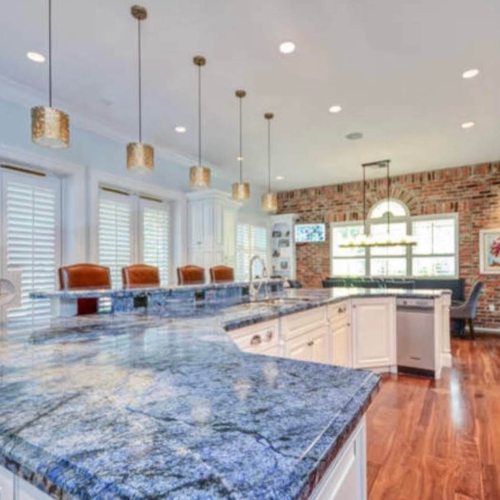 A custom finish on a beautiful South Tampa Kitchen  Collaboration with Crespo Design Group