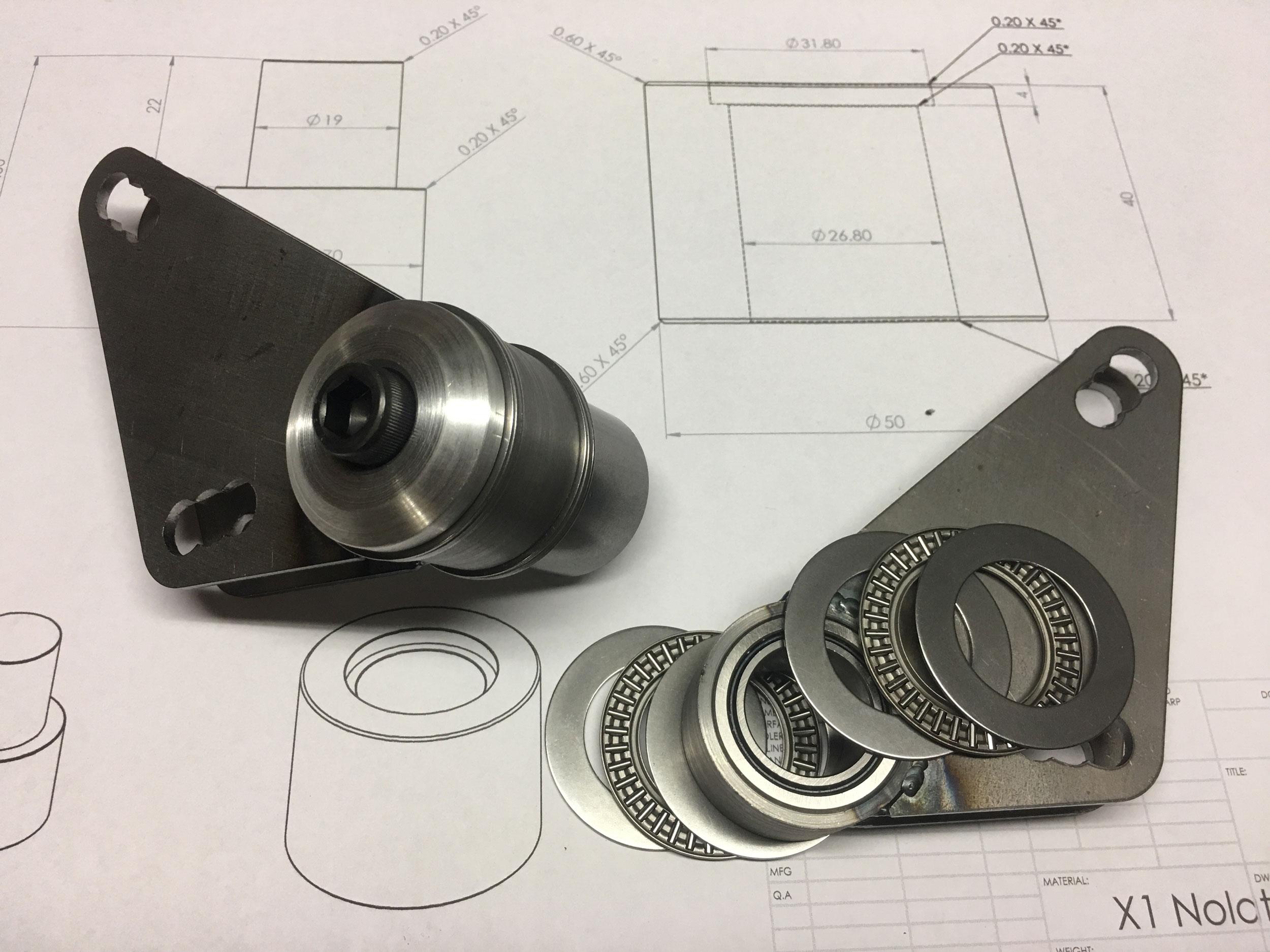 Bell-Crank bearings