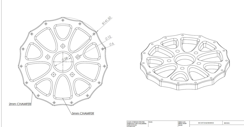 Wheel Centre drawings