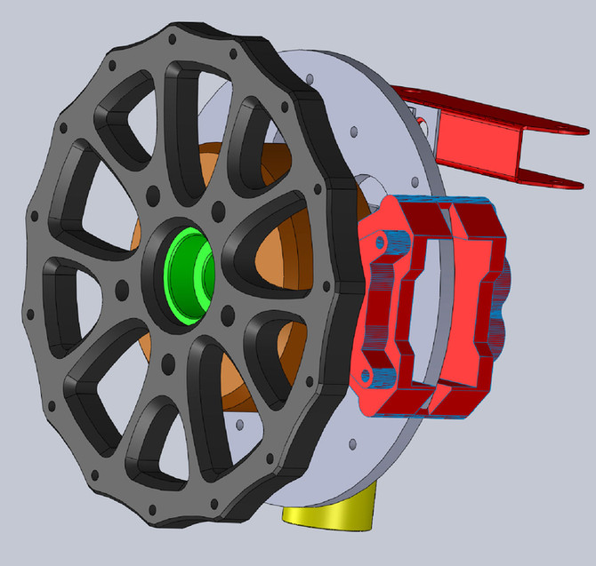 Wheel assembly - design and fabrication.